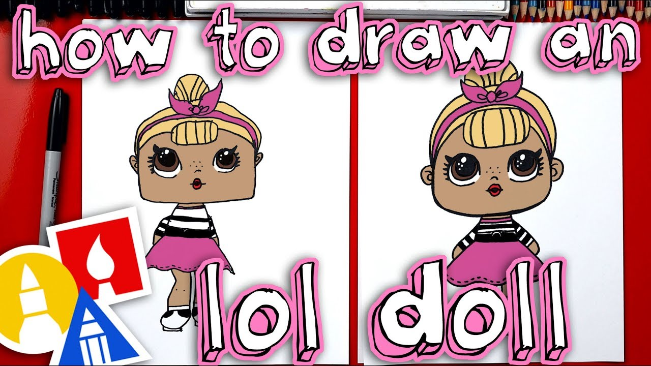 How To Draw An L O L Surprise Doll Plus We Open One Youtube