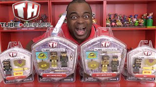 UNBOXING SkyDoesMinecraft's TOYS! [Tube Heroes]