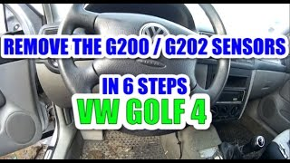 How to remove / change the yaw rate sensor G202 and the lateral acceleration sensor G200