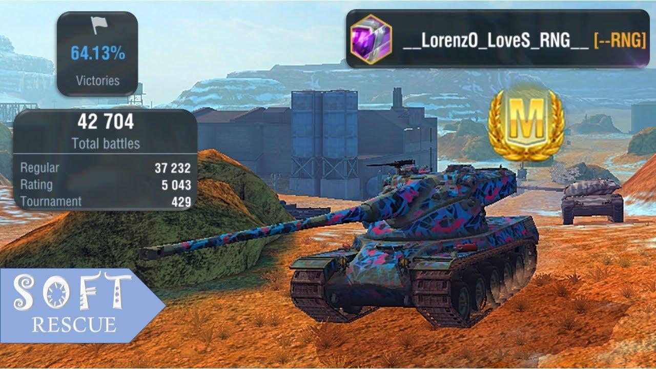 AMX 50b: 7100 Damage , 3 Frags - WOT BLITZ -