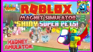 Roblox #71 | SHINY SUPER PET GIVEAWAYS! | MAGNET SIMULATOR! | LIVE | (sjk Livestreams #285)