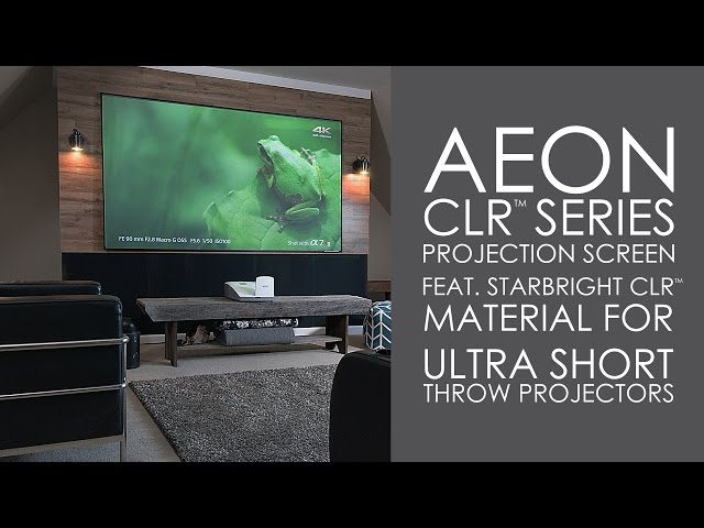 AEON CLR Series Screen with StarBright CLR Material for Ultra Short Throw Projectors