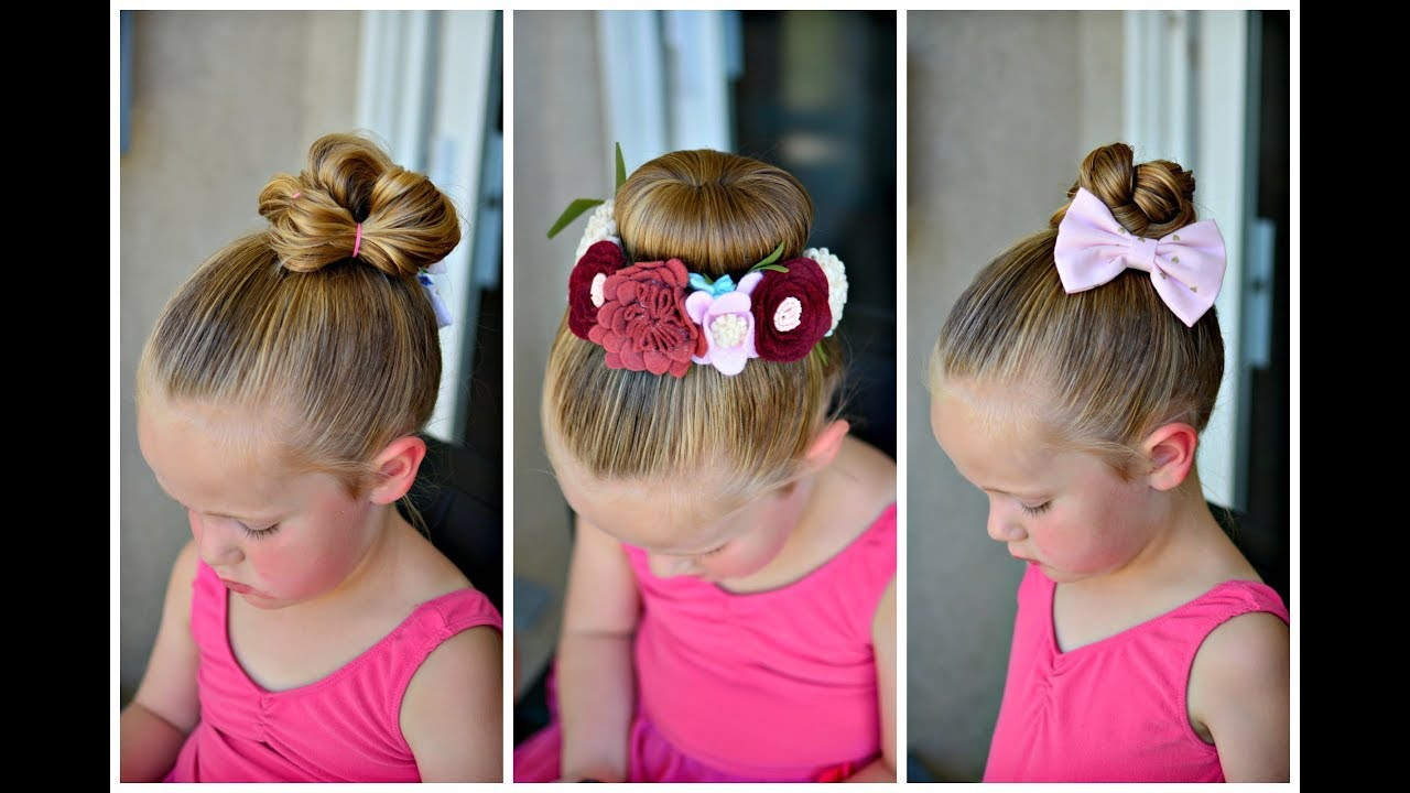 Ballet Bun Hairstyles For Little Girls Youtube