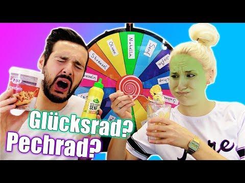 GLÜCKSRAD EIS CHALLENGE - SENF IM EISBECHER! Nina VS Kaan   Mystery Spin Wheel of Icecream