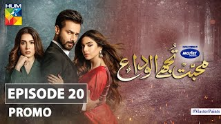 Mohabbat Tujhe Alvida | Episode 20 | Promo | Digitally Powered By Master Paints | HUM TV | Drama