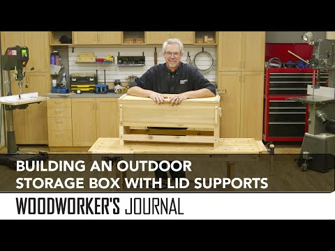 Building an Outdoor Seat and Storage Box with Lid Stay