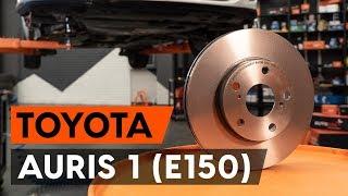 Como substituir discos de travão dianteiros no TOYOTA AURIS 1 (E150) [TUTORIAL AUTODOC]