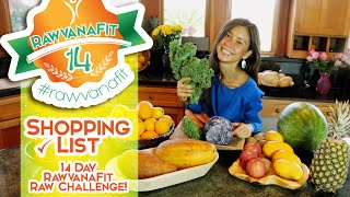 Shopping List 14 Day Raw Vegan Challenge #RawvanaFit (summer edition)
