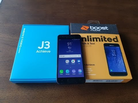 Samsung Galaxy J3 Achieve 2018 Unboxing  For BoostMobile/Sprint/AT&T