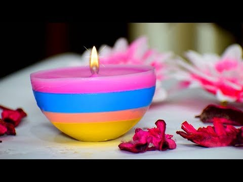 DIY Diwali Christmas Home Decoration Ideas How To Make Candles From Waste