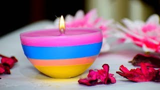 DIY Diwali/Christmas Home Decoration Ideas : How to make Christmas Candles from waste candles?