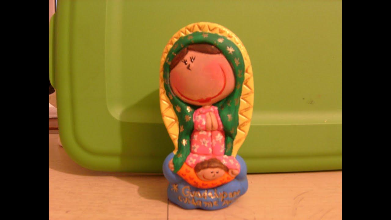 Tutorial para pintar una Virgen de Guadalupe en cerámica. - YouTube