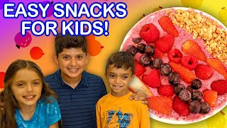 3 No-Cook Afternoon Snacks Kids Can Make!  | Universal Kids