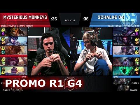 Mysterious Monkeys vs FC Schalke 04   Game 4 Promotion/Relegation S8 EU LCS Spring 2017   MM vs S04