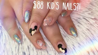 Easy Mickey Mouse Kid's Nails with REAL SWAROVSKI CRYSTALS