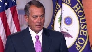 boehner theres a stalemate on fiscal cliff