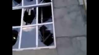 Метеорит в Челябинске. новое видео Выбитые стекла 15.02