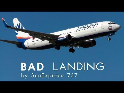 Hard landing for SunExpress Boeing 737 (Zurich Airport)