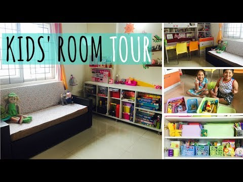 My Kids Room Tour | Small Indian Kids' Room Layout, Design & Organizing