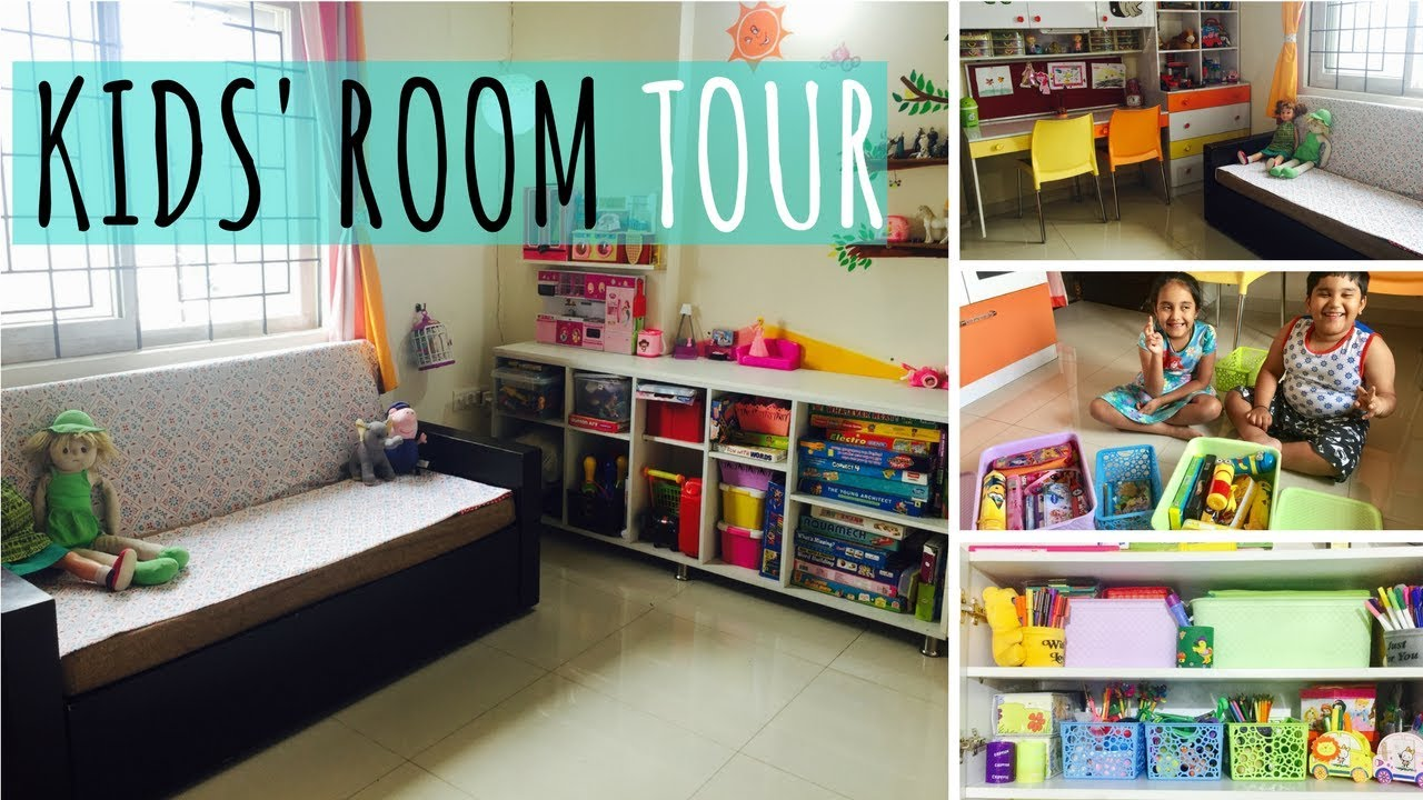 My Kids Room Tour Small Indian Kids Room Layout Design Organizing Youtube
