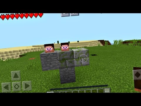 How to Spawn the Notch Boss in Minecraft Pocket Edition (Boss Fight)