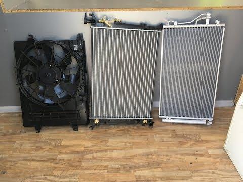 Обзор радиаторов охлаждения и кондиционера, диффузор охлаждения на Хендай IX 35 - Смешные видео приколы