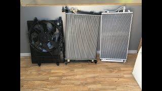Обзор радиаторов охлаждения и кондиционера, диффузор охлаждения на Хендай IX 35