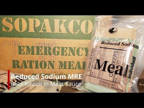 REDUCED SODIUM MRE REVIEW SOPAKO MEAL INDIVIDUAL BEEF RAVIOLI