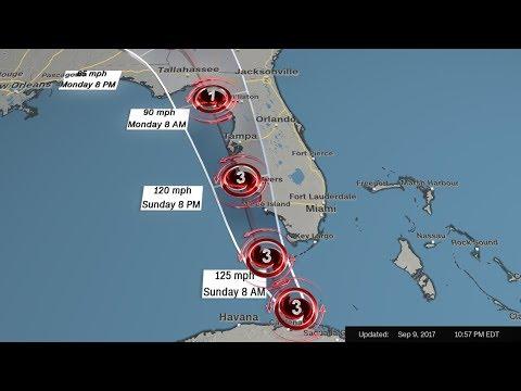 Irma slowly turns to Florida; Key West feels hurricane-force winds