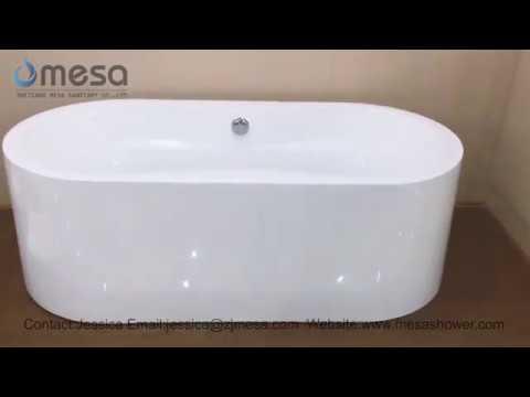 2017 New Acrylic Freestanding Oval Soaking Whirlpool Jacuzzi Hot Bath Tubs Bathtubs C 3165 by Mesa