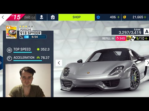 Play Asphalt 9 Drive On Porsche 918 Spyder Get 300 Tokens In 5 Minut