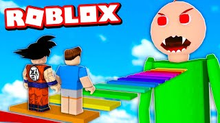ESCAPE DOS DESAFIOS DO BALDI NO ROBLOX!! (Escape Baldi's Basics Obby)
