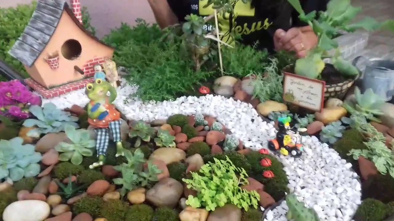 Preferência Mini Jardim em Carrinho de Mão - YouTube RB44
