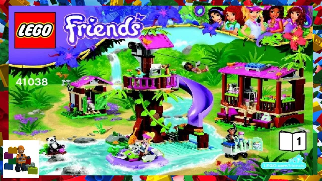Lego Instructions Lego Friends 41038 Jungle Rescue Base Book 1