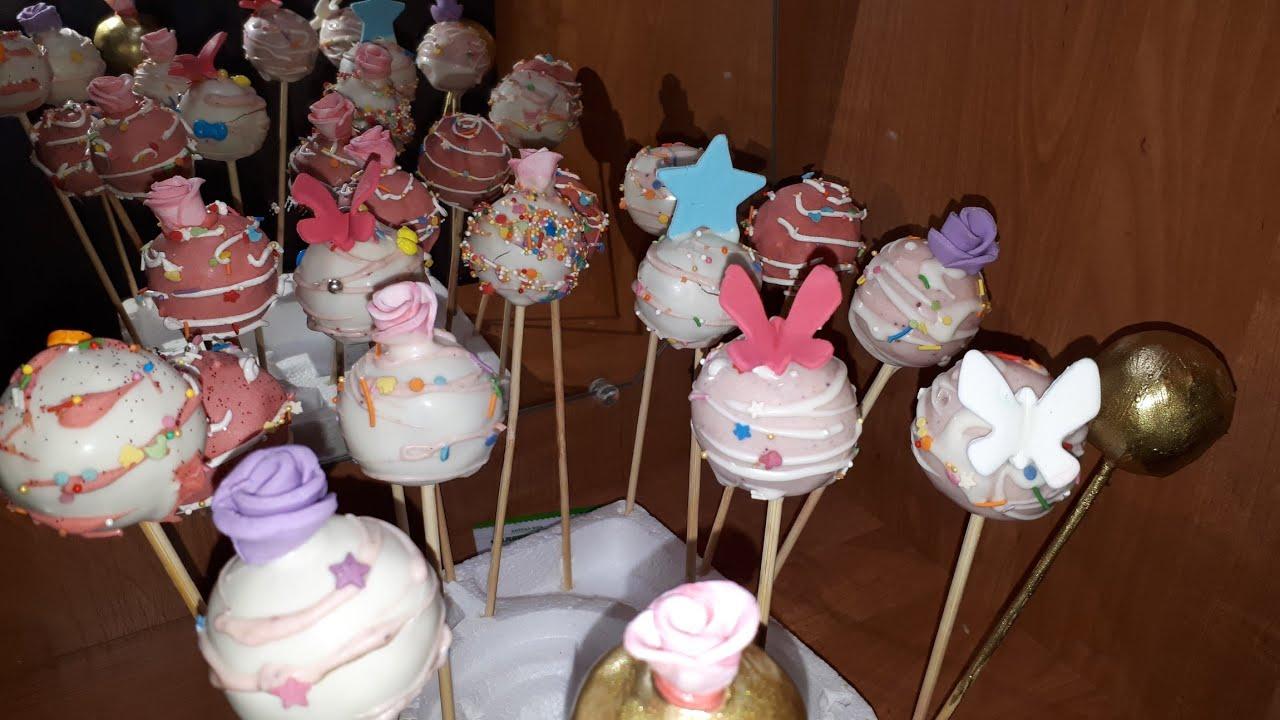 Popkek hazirlamagin cox asan üsulu. dogum gunu icin popkek nasıl yapılır #candybar  #popcake #cake