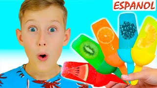 Learn Colors with Fruits Song Spanish -  Nursery Rhymes & Canciones Infantiles