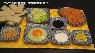 Sesame Prawn Toast Recipe - Chinese Shrimp