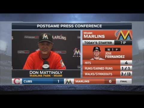 Don Mattingly -- Miami Marlins vs. Chicago Cubs 06/26/2016