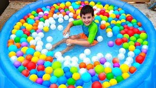 Ball Pit Show with Color Song and Patrick