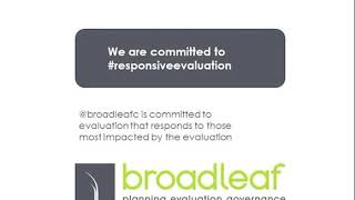 Broadleaf at #Eval4Action Commitment Drive