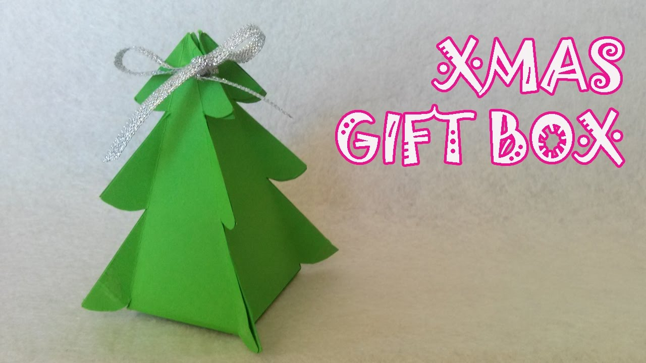 Christmas Tree Gift Box  Origami Easy  YouTube