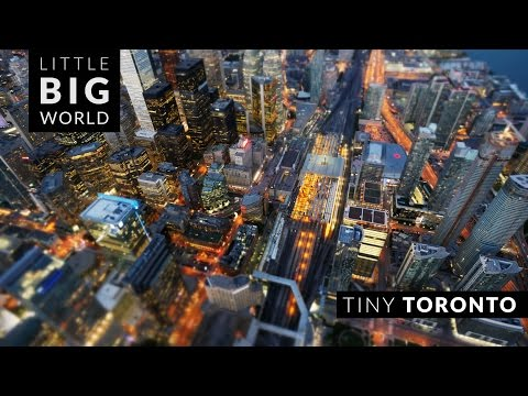 Tiny Toronto (Time Lapse - Tilt Shift - 4k)