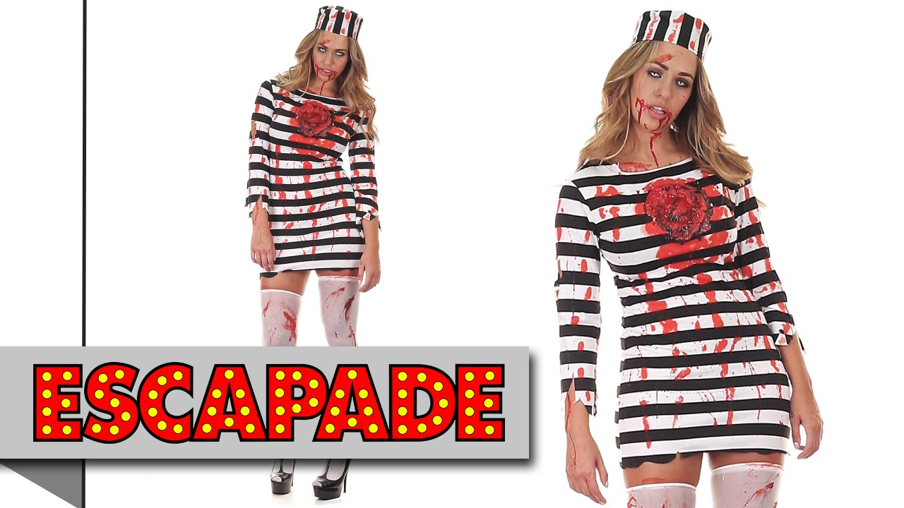 Zombie Convict Halloween Costume - Halloween Fancy Dress Costume ...