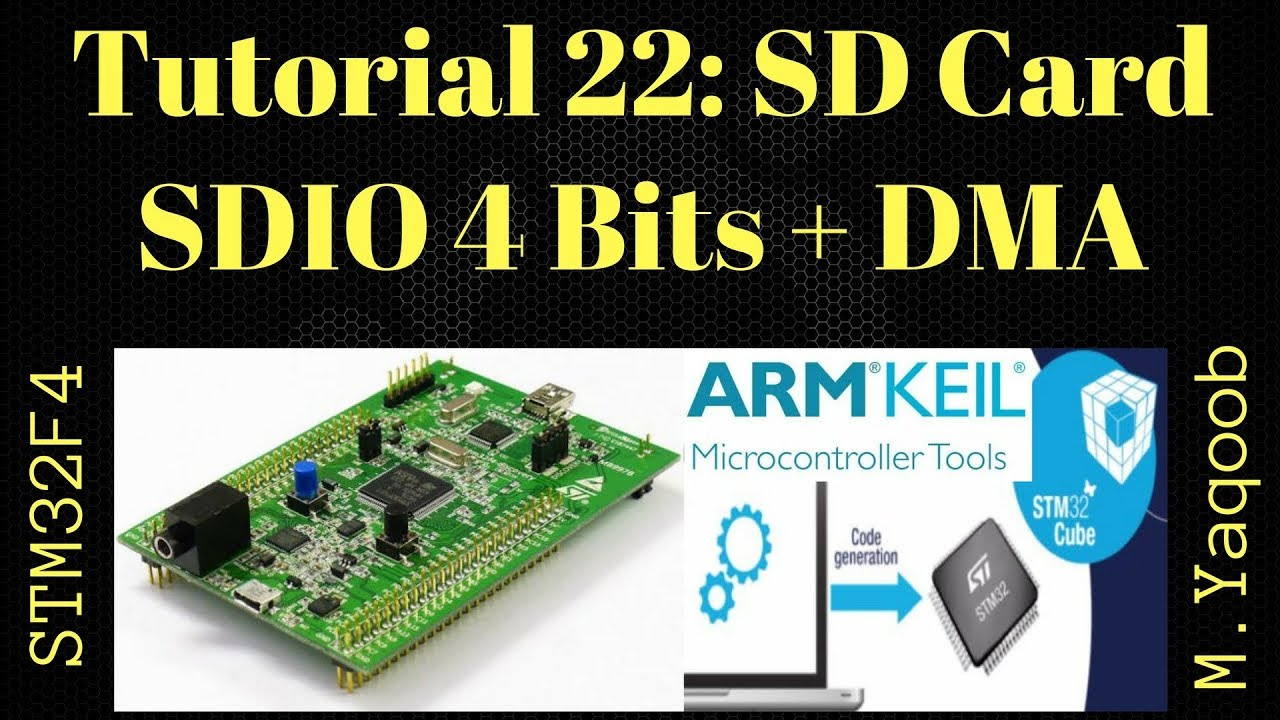 STM32F4 Discovery board - Keil 5 IDE with CubeMX: Tutorial 22 SD Card SDIO  4 Bits + DMA