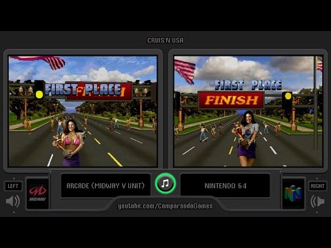 Cruis'n USA (Arcade vs Nintendo 64) Side by Side Comparison