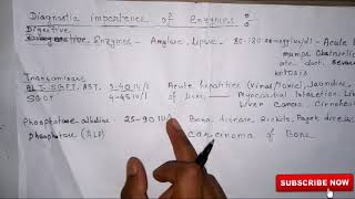 Diagnostic importence of enzymes