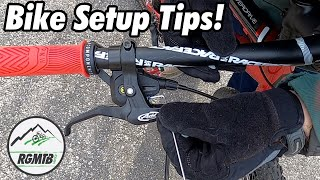 Entry Level Mountain Bike Upgrades - Tips for setting up the controls on your mountain bike