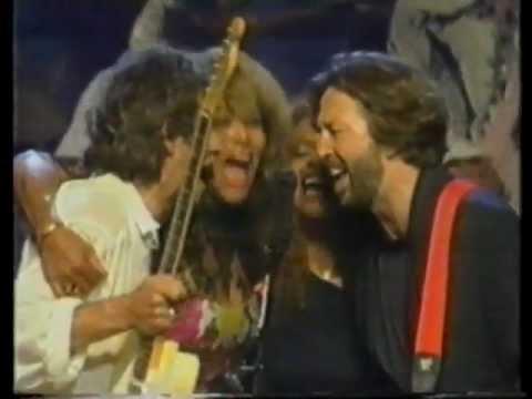 Eric Clapton & Keith Richards with All Stars  Keep A Knockin 1989