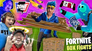 FORTNITE BOX FIGHTS & ZONE WARS w/ FGTeeV Boys Battle (Chase & Duddz vs MIKE)