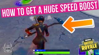 How to get a SPEED BOOST in Fortnite! Fortnite Greasy Grove RIFT ZONE! New Foraged Tacos Item!